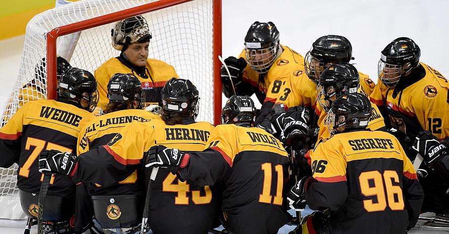 Das deutsche Para-Eishockeyteam ist hochmotiviert und will bei der B-WM in Berlin in den A-Pool aufsteigen. Foto: Ivo Gonzales