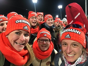 Das DOJL unterstützte die deutschen Athletinnen und jubelt mit Vanessa Hinz. (Foto: DOA)