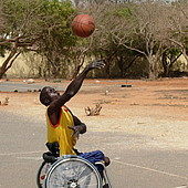 Wheelchair basketball in Senegal promoting sporting participation for people with disabilities ©DOSB