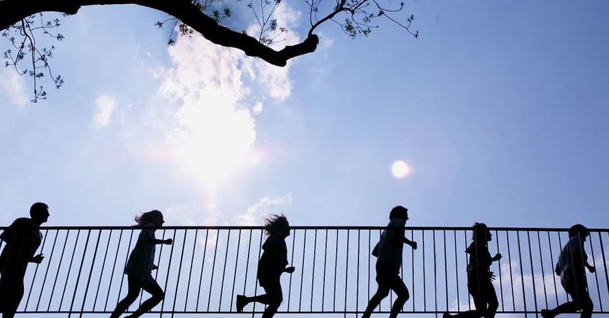 Beim Laufen funktioniert social distancing. Foto: picture-alliance