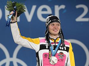 Stepanie Beckert bei der Siegerehrung. Copyright: picture-alliance