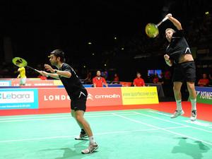 Zur Zeit finden in der Londoner Wembley Arena die Badminton Weltmeisterschaften statt. Die Wettkampfstätte befindet sich in unmittelbarer Nähe der Krawalle. Foto: picture-alliance