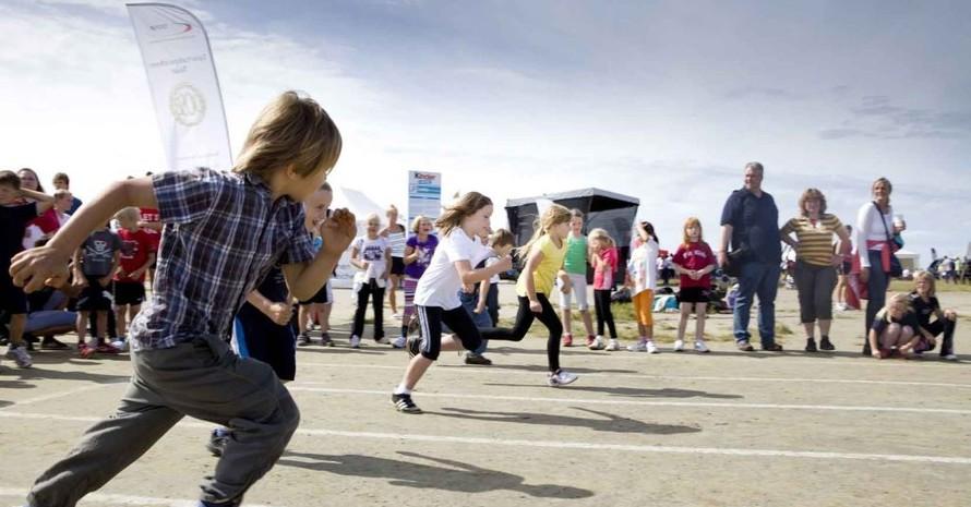 Der Sprint gehörte für Kinder zum spannenden Bestandteil des Programms. (Alle Fotos: Meike Engels)