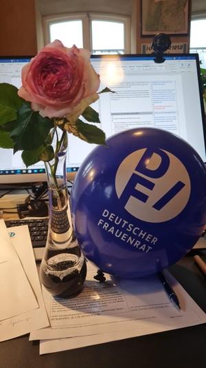 Luftballons und viel Arbeit für alle Delegierten des Deutschen Frauenrates, Foto: privat