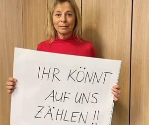 Petra Tzschoppe, DOSB-Vizepräsidentin Frauen und Gleichstellung, bezieht Stellung gegen Homophobie im Sport. Foto: DOSB