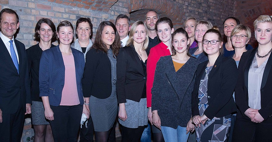 DOSB-Mentoring-Teams auf der Mitgliederversammlung 2016 in Magdeburg. Foto: DOSB