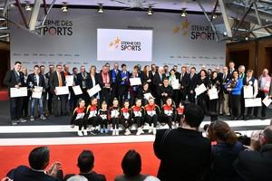 Die 17 Finalisten sind in Berlin dafür ausgezeichnet worden, dass sie gesellschaftlich relevante Themen in ihren Vereinen anpacken. Foto: DOSB/BVR