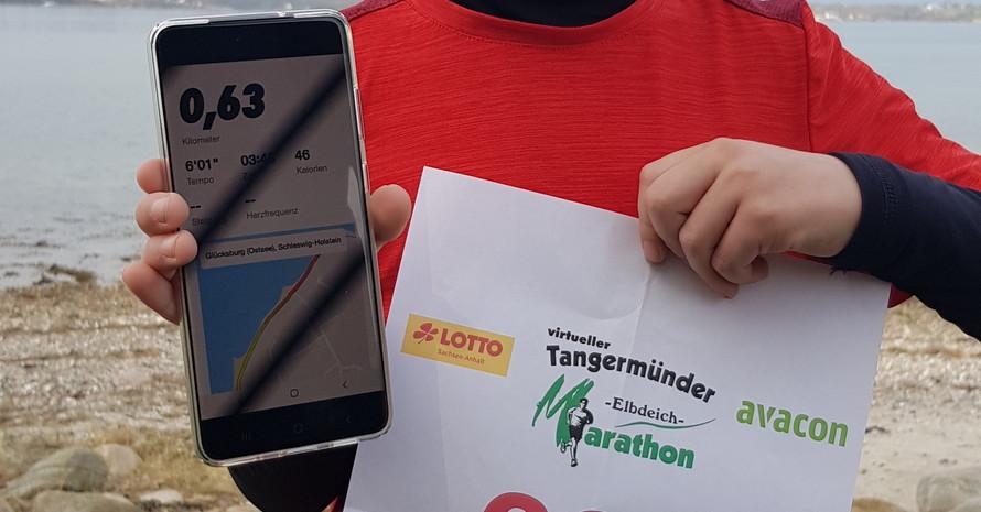 #Coronathon – virtueller Tangermünder Elbdeichmarathon Foto: Tangermünder Elbdeichmarathon