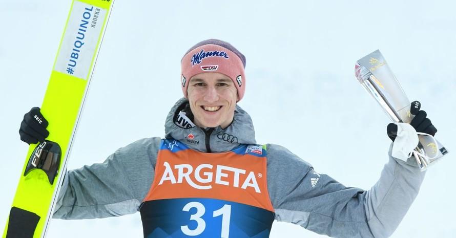 Karl Geiger ist bereits zum dritten Mal innerhalb von 15 Monaten zum Sportler des Monats gewählt worden. Foto: picture-alliance