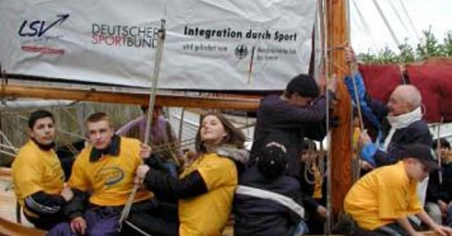 Integration durch Sport unter vollen Segeln (alle Fotos: Jürgen Pautke).