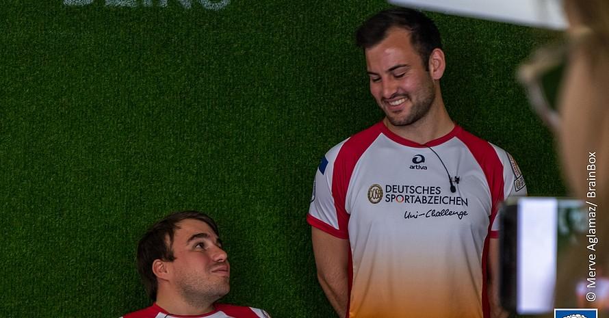 Julien Krüger und Kevin Kitsch sind die Gesichter der ersten inklusiven Sportabzeichen-Uni-Challenge (Foto: Merve Aglamaz)