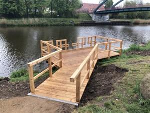 Beispiel für einen barrierefreien Angelplatz (© Sabine Hüber)