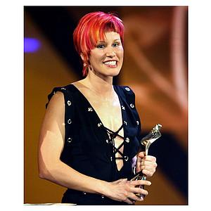 Kati Wilhelm, Biathletin und Sportlerin des Jahres 2006, ist auch Botschafterin des 1. Bundesweiten Frauensportaktionstages. Copyright: picture-alliance/dpa