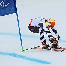 Andrea Rothfuss (hier während dem  Riesenslalom  bei den Paralympischen Winterspielen in Sotchi 2014) begrüßt das neue Fördermodul. Foto: picture-alliance