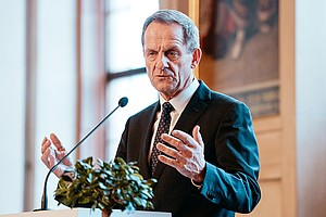 DOSB-Präsident Alfons Hörmann beim Neujahrsempfang im Frankfurter Römer. Foto: DOSB/Jan Haas