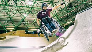 Rollstuhlskater in Aktion Foto: LSB NRW