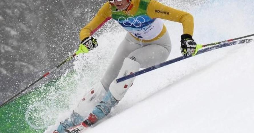 """Maria Riesch beim """"Goldlauf"""" im Slalom-Wettbewerb, Copyright: picture-alliance"""