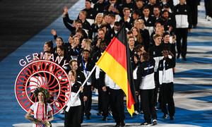 Das European Games Team Deutschland bei der Eröffnungsfeier in Minsk. Foto: DOSB