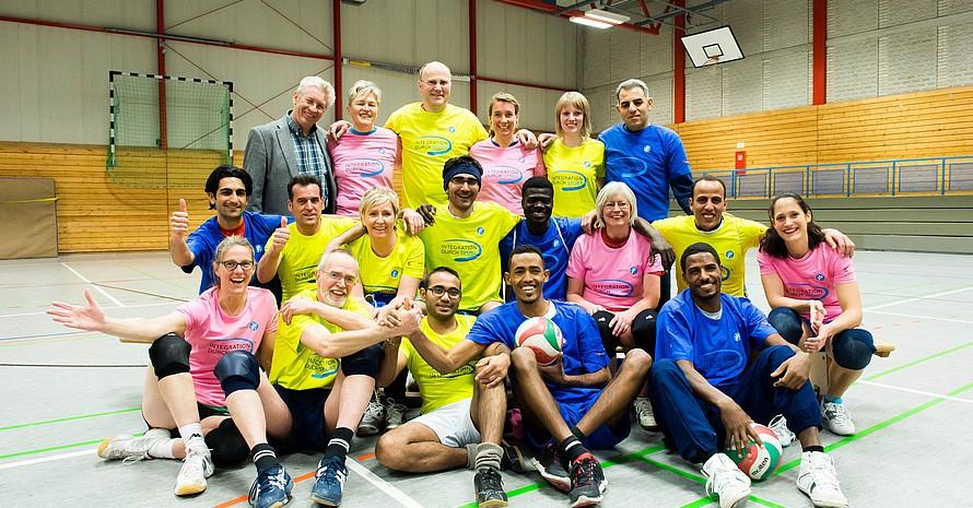 Die Flüchtlinge in der SG Sendenhorst fühlen sich willkommen im Verein und schätzen den freundschaftlichen Zusammenhalt. Foto: LSBNRW