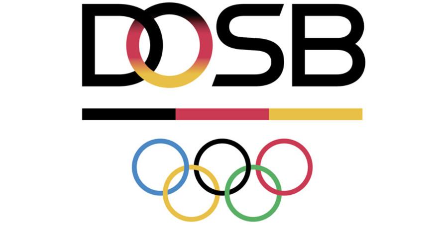 """Das neue Logo mit dem charakteristischen  """"O"""" in Schwarz-Rot-Gold. Logo: DOSB"""