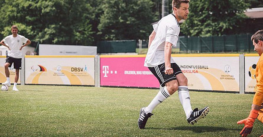 Alexander Fangmann auf dem Fußballfeld.