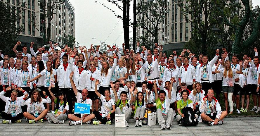 Die Deutsche Jugend-Olympiamannschaft verabschiedete sich von den Spielen.
