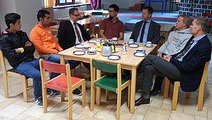 Alle Beteiligten beim Gespräch