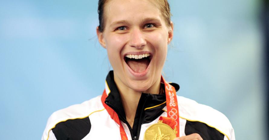 """Degenfechterin Britta Heidemann, gewann in Peking Gold und verfasste das Buch """"Erfolg ist eine Frage der Haltung. Was Sie vom Fechten für das Leben lernen können"""". Foto: picture-alliance"""