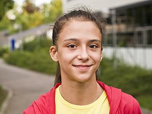 Jana Berezko-Marggrander ist die jüngste Teilnehmerin bei den Olympischen Jugendspielen. Foto: Maximilian Haupt