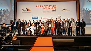 Die Behindertensportler des Jahres 2018 in Düsseldorf. Foto: DBS/picture-alliance