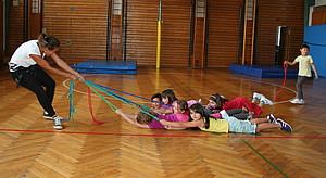 Alle an einem Seil. Foto: IDS