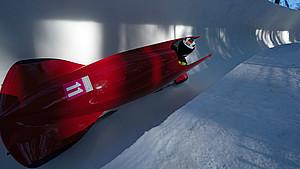 Alexander Czudaj fuhr mit dem Monobob zeitgleich mit dem Rumänen Andrei Nica auf Platz eins. Foto: Olympic Information Services