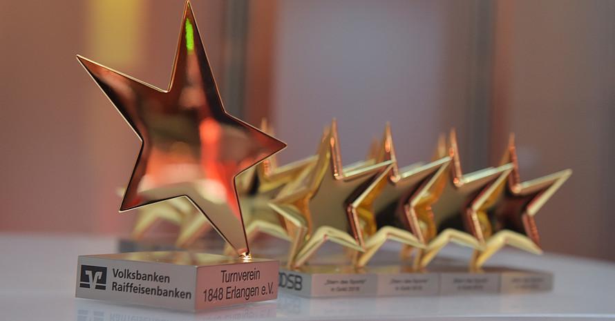 """""""Sterne des Sports"""" in Gold vor der Verelihung 2019 in Berlin  Foto: DOSB"""