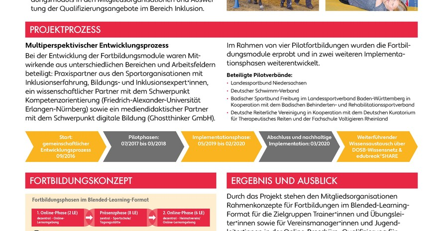 """Plakat """"Qualifizierung für Inklusion"""""""
