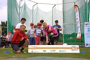 Weitwurf bei der Sportabzeichen Tour 2018. Foto: DOSB/Treudis Nass