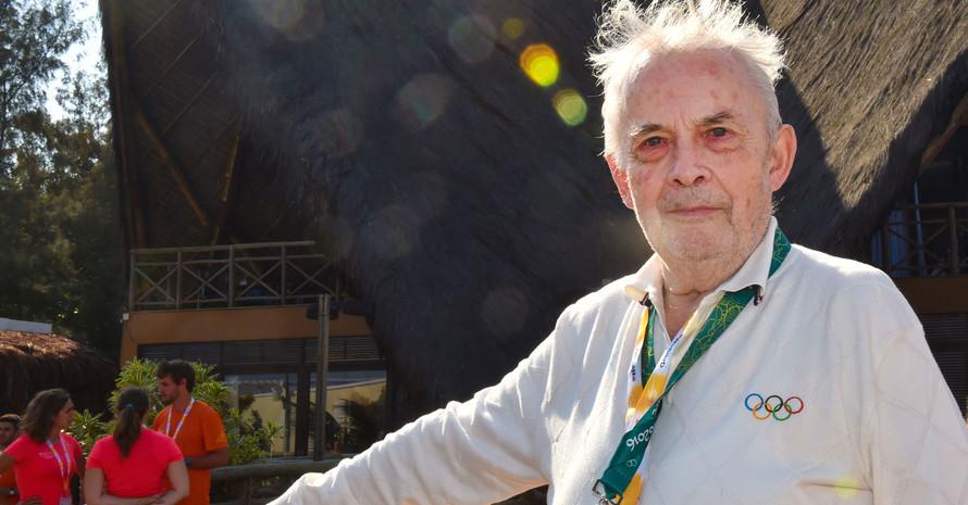 Walther Tröger beim Besuch des Deutschen Hauses in Rio 2016. Foto: picture-alliance