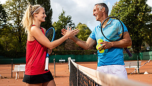 Vom 25. April 2020 bis zum 17. Mai 2020 veranstalten Deutschlands Tennisvereine wieder Aktionstage. Foto: Deutscher Tennis Bund