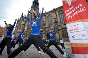 """Die """"Gloriets Cheerleader"""" aus Abershausen haben die Wahl zur Initiative des Monats Mai für sich entschieden. Foto: Mission Olympic"""
