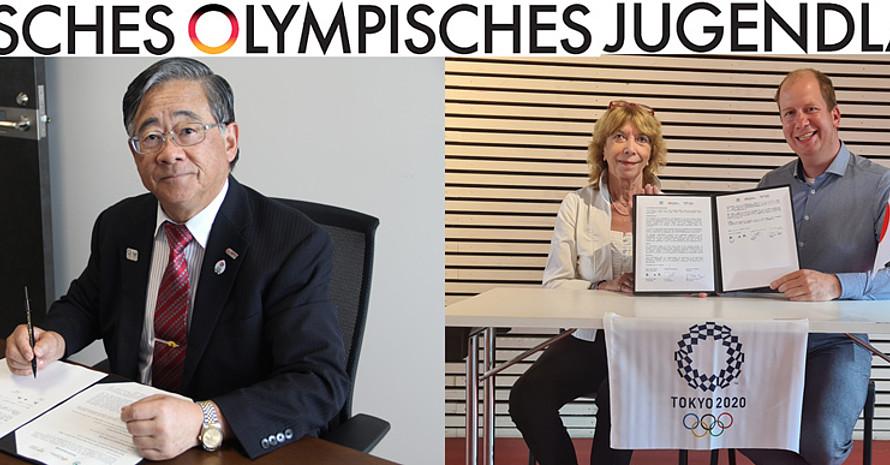 Unterzeichnung der gemeinsamen Vereinbarung in Japan und Deutschland, Foto: JJSA/dsj