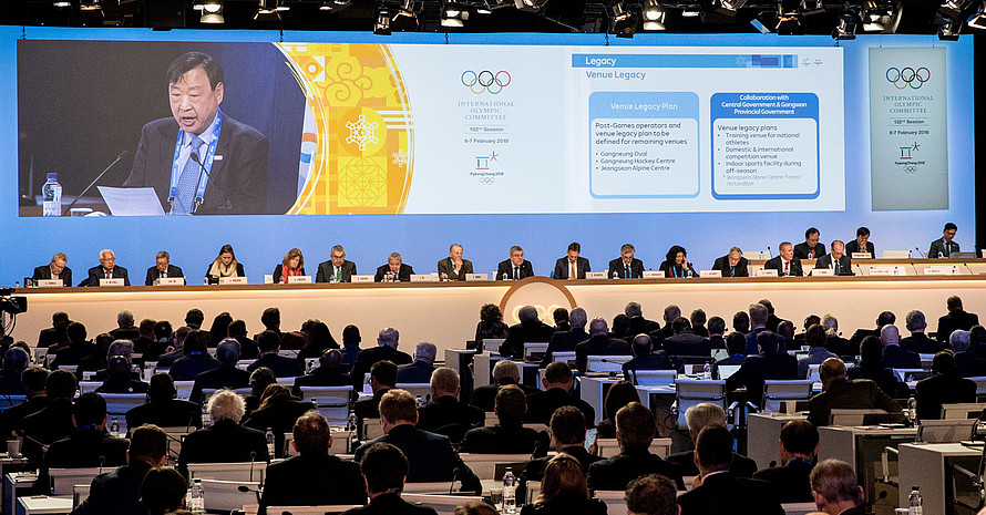 Auf der 132. IOC Session in PyeongChang wurde beschlossen Jugendspiele in Afrika auszutragen. Foto: picture-alliance