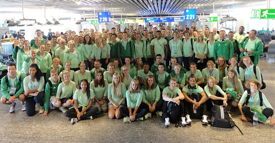 Die Deutsche Jugend-Olympiamannschaft fliegt mit Lufthansa nach Nanjing. Foto: DOSB