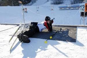 Der Biathlet Martin Feigl gehört zum deutschen Paralympic-Team für die Winterspiele in Vancouver. Copyright: picture-alliance