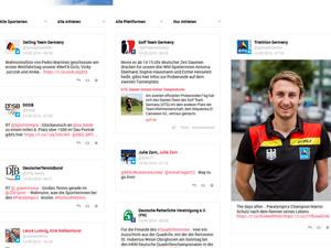 Die Plattform der Deutschen Olympiamannschaft. Screenshot apps.facebook.com