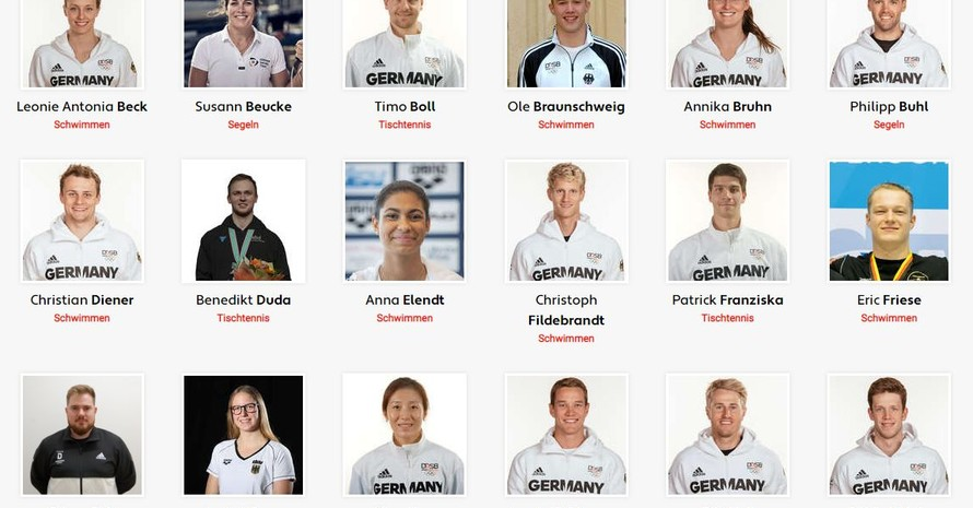 Einige der nominierten Sportler*innen für das Team Deutschland in Tokio 2020. Foto: Team D