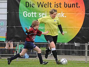Sport hat Tradition bei Kirchentagen. Coypright: picture-alliance
