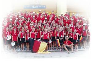 Die deutsche Studentennationalmannschaft bei der Universiade 2005 im türkischen Izmir. Foto: adh