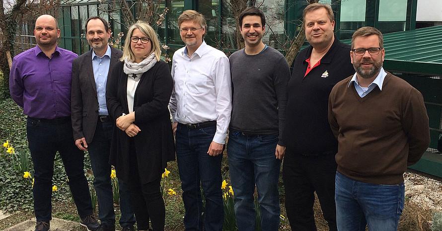Das neue Präsidium des DBV mit Gunnar Schäfer, Jürgen Elsishans, Nicole Broziewski, Oliver Rossius, Tobias Dietrich, Uwe Sacherer und Markus Pollmeier (v.l.). Foto: DBV