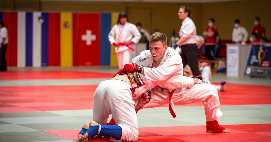 "Simon Attenberger holte Bronze in der Disziplin ""Fighting"". Foto: DJJV/Anke Rottmann"