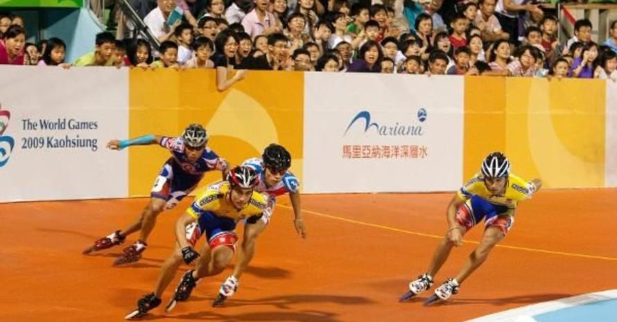 Inlineskating gehört zum Sportprogramm der World Games, wie hier in Kaohsiung 2009. Copyright: picture-alliance