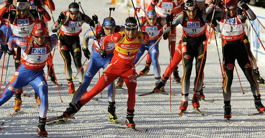 """""""Erfolgsfaktoren beim Biathlon"""" sind ein Thema der neuen Zeitschrift Sportwissenschaften. Copyright: picture-alliance"""